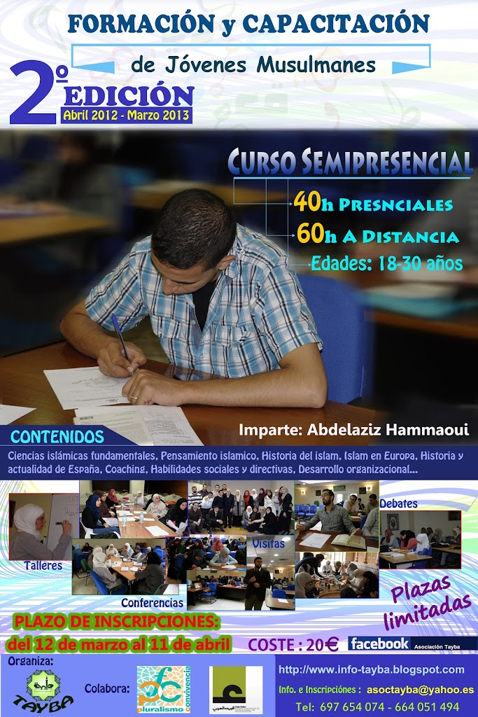 """II Edición del Curso de """"Formación y Capacitación de Jóvenes Musulmanes"""" (abril 2012-marzo 2013)"""
