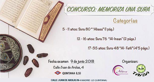 CONCURSO: MEMORIZA UNA SURA