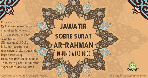 JAWATIR SOBRE SURAT AR-RAHMAN